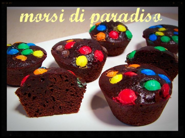 Tortini cioccolato e smarties