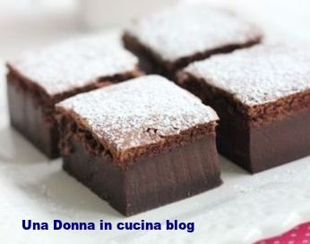Quadrotti dolci al cioccolato