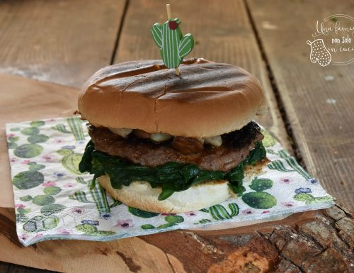 Hamburger porcini e spinaci