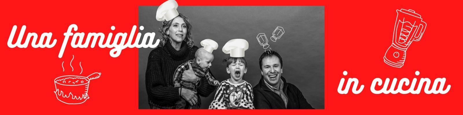 Una famiglia in cucina