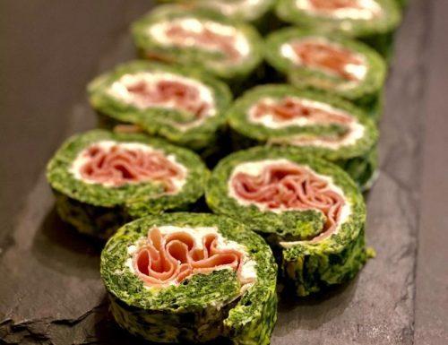 Girelle di frittata agli spinaci