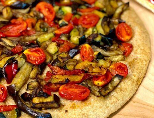 Focaccia integrale con verdure