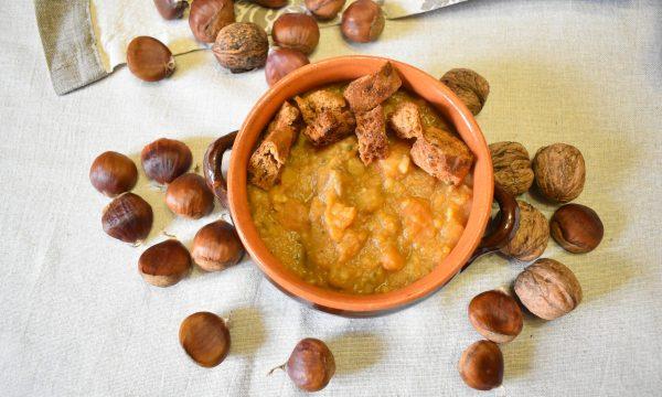 Zuppa castagne e zucca