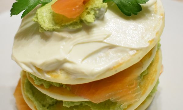 Pancake salati avocado e salmone