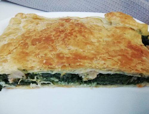 Torta rustica spinaci e salsiccia