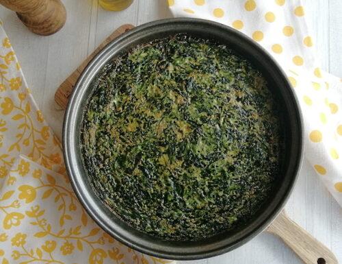 Frittata con spinaci al forno