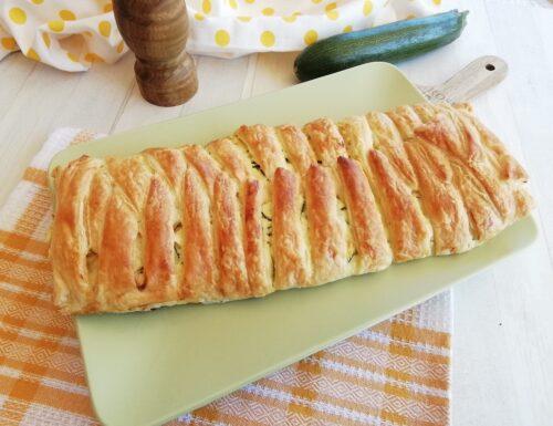 Rotolo di pasta sfoglia con ricotta e zucchine