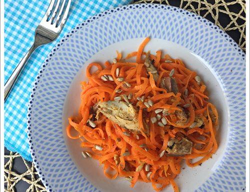 Spaghetti di Carote allo Sgombro