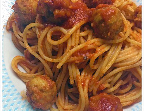 Spaghetti con polpettine di Melanzane