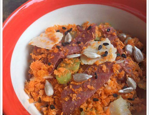 Insalata di carote e Bresaola affumicata
