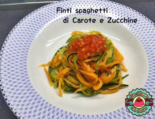 Finti spaghetti di Carote e Zucchine