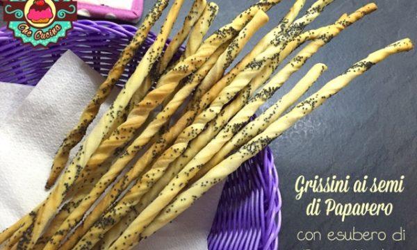 Grissini arrotolati ai Semi di Papavero con esubero di Pasta Madre
