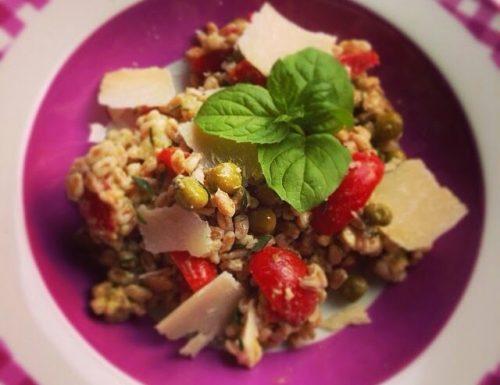 Insalata di Farro con Pesto e Pomodorini