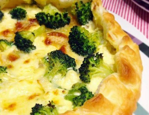 Torta salata con Broccoli, Patate e formaggio La Tur