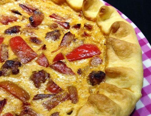 Torta rustica con Peperoni e Salsiccia