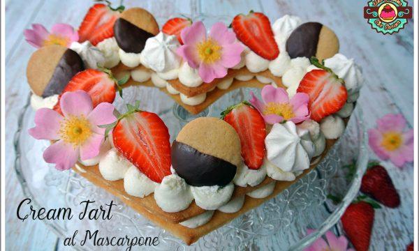 Cream Tart con crema al mascarpone e frolla sablè