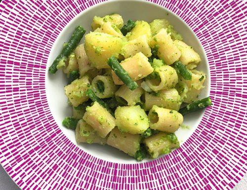 Mezze maniche Pesto, Patate e Fagiolini