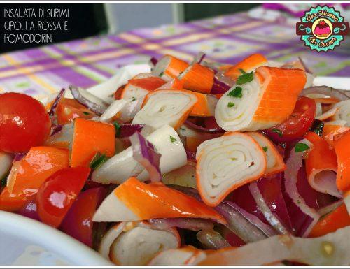 Insalata di Surimi con Cipolla rossa e Pomodorini