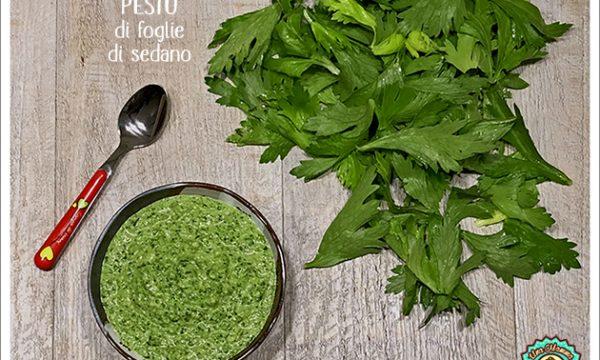 Pesto di foglie di Sedano e mandorle