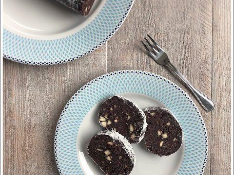 Salame di cioccolato con panettone avanzato