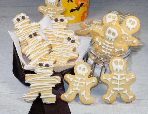Biscotti scheletro e biscotti mummia
