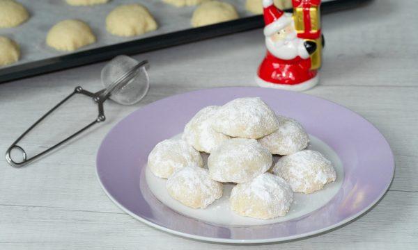 Snowball cookies biscotti palle di neve per il club del 27