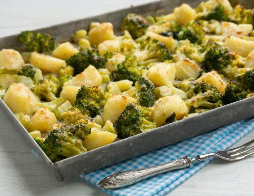 Broccoli e patate al forno