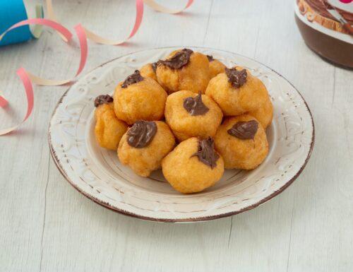 Tortelli di carnevale ripieni di Nutella