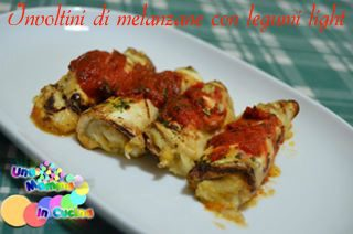 Involtini di melanzane con legumi light