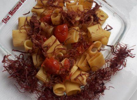 Pasta light con sfilacci di cavallo e pomodorini
