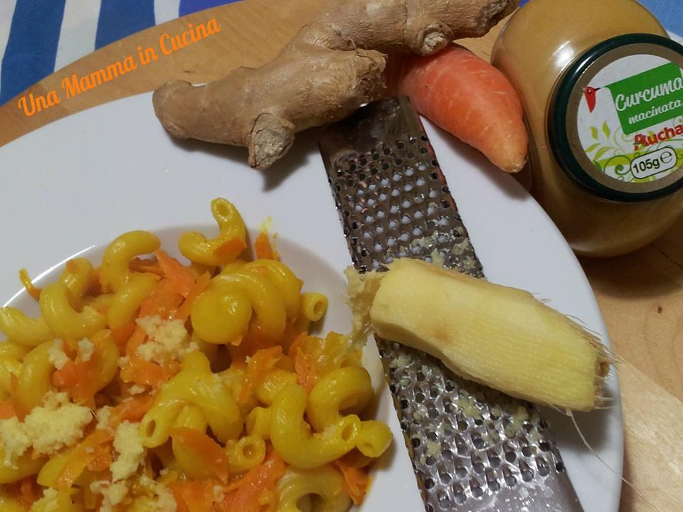 Pasta light carote zenzero e curcuma