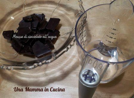 Mousse di cioccolato all'acqua di Barzetti