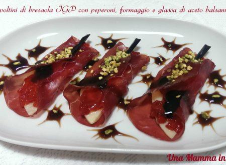 Involtini di bresaola IGP con peperoni e formaggio