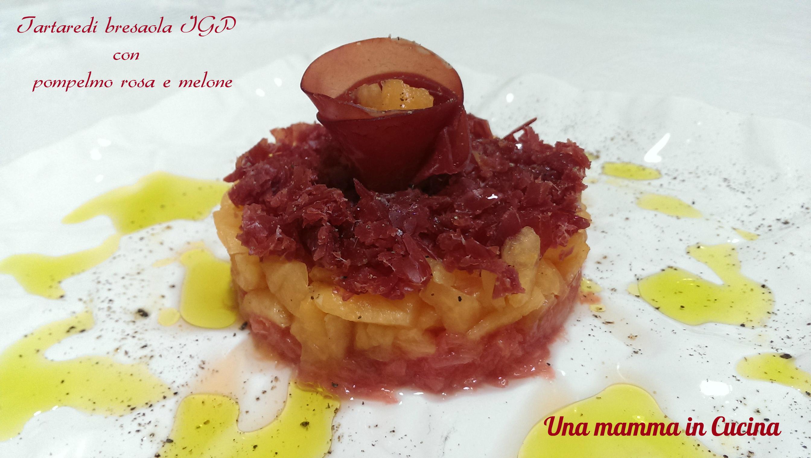 Tartare di bresaola IGP con pompelmo rosa e melone