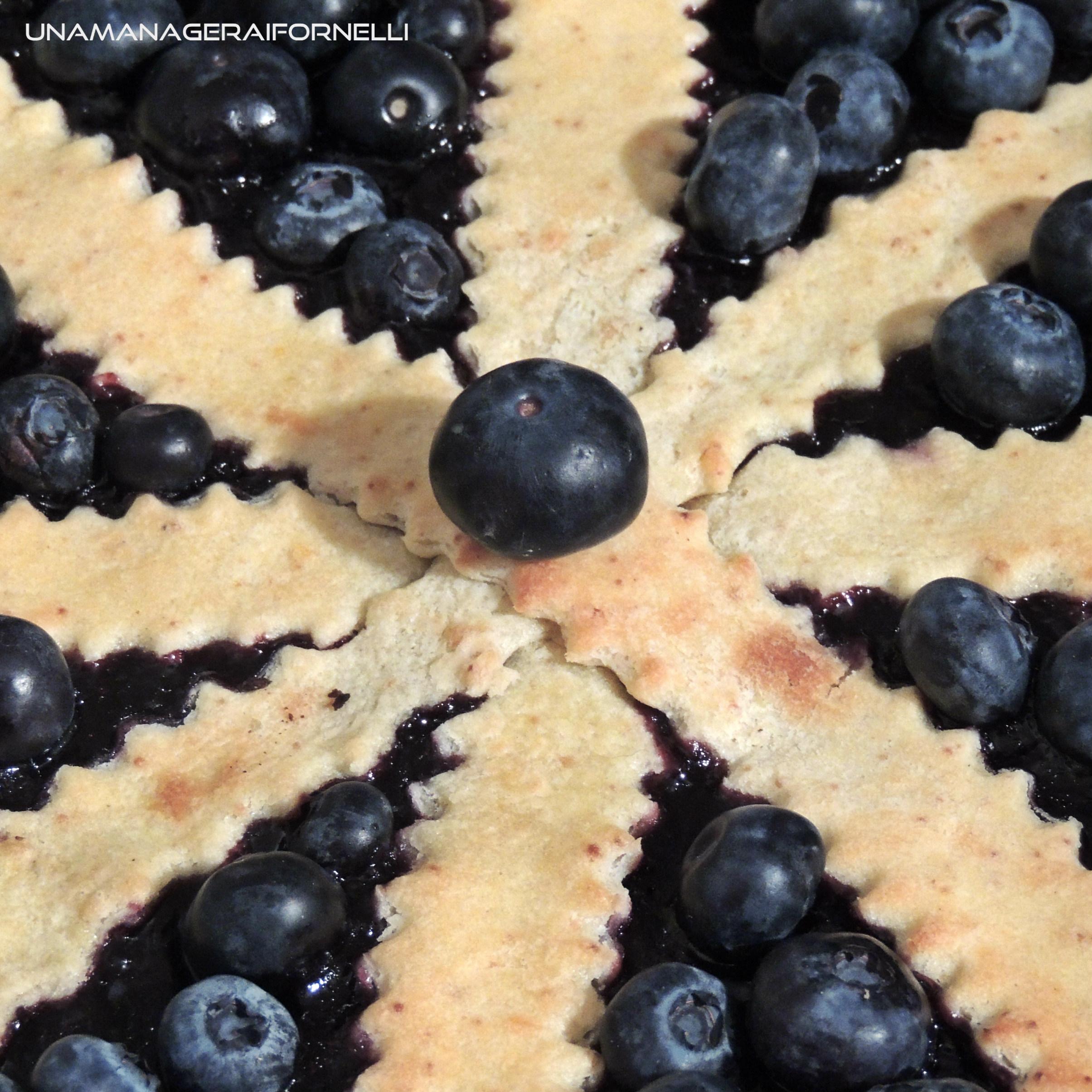 crostata di frolla di farro ai mirtilli