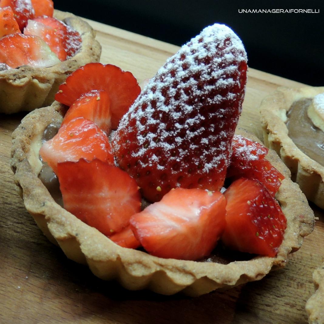 crostatine nutella e fragole