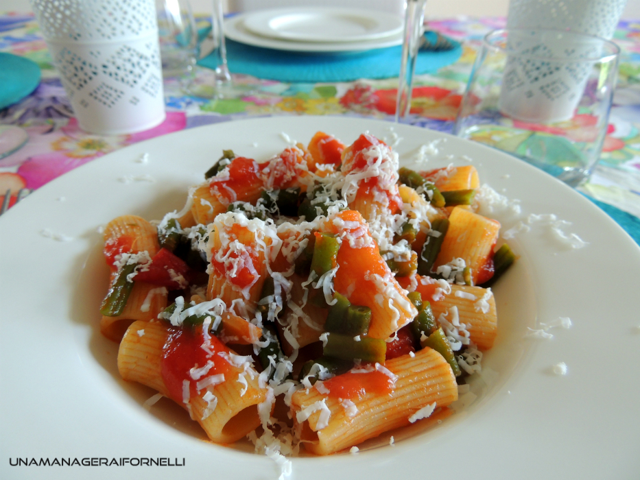 Mezze Maniche Fagiolini e Ricotta Salata
