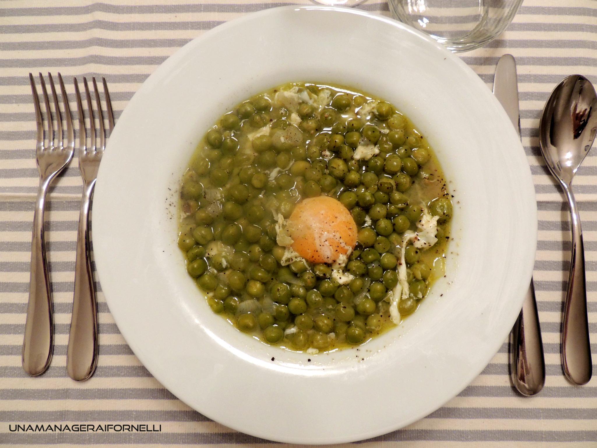 zuppa di piselli e uova