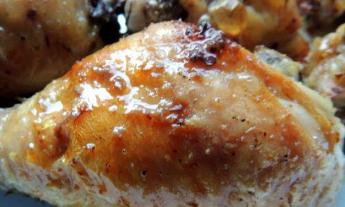 Pollo alla birra al forno