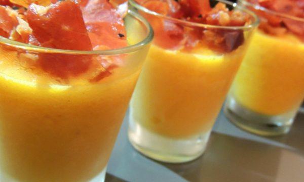 Sorbetto Melone e Petali di Crudo