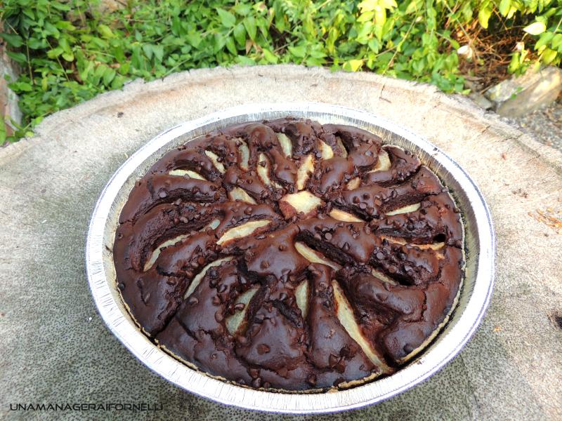 torta di riso cioccolato e pere