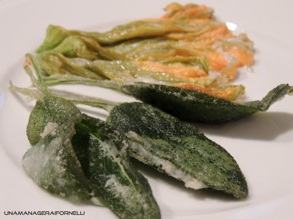 tempura di salvia
