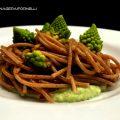 spaghetti di farro con broccolo romanesco