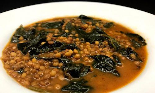 Zuppa di lenticchie con spinaci