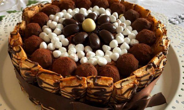 Torta Meringhe Cioccolato e Caffè