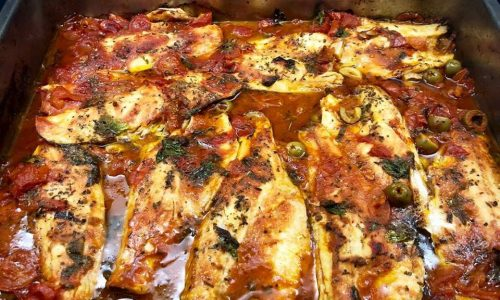 Filetti di branzino all'acqua pazza