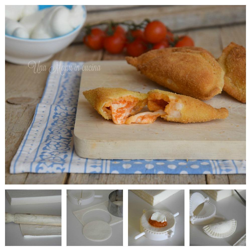 panzerotti di pane collage