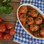 Polpette al pomodoro e olive senza prefrittura