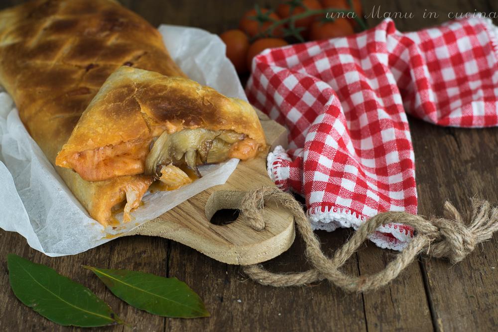 Pasta Sfoglia Ripiena di Funghi e Mozzarella
