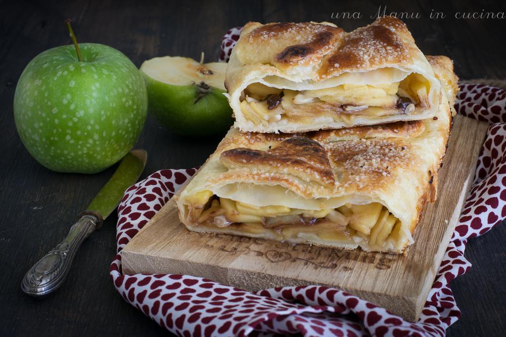 Strudel di Pasta Sfoglia alle Mele